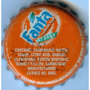 Iran Mashhad Khoshgovar Fanta Used Bottle Crown Cap