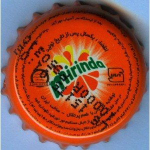 Iran Tehran Sasan Company Mirinda Used Bottle Crown Cap