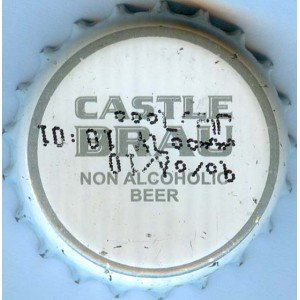 Iran Castle Brau Non-Alcoholic Beer Used Bottle Crown Cap